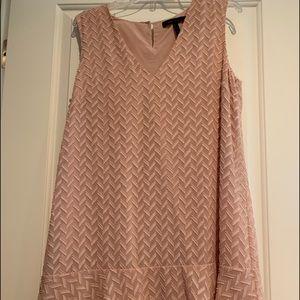 BCBG Rose tank dress with texture.